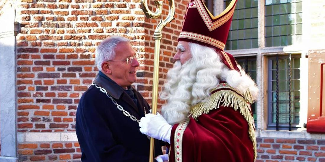 Peter de Koning en Sinterklaas in Gennep