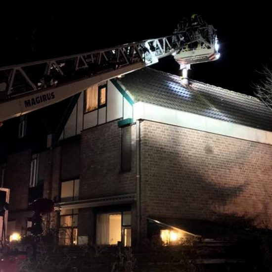 Schoorsteenbrand Havikstraat Gennep