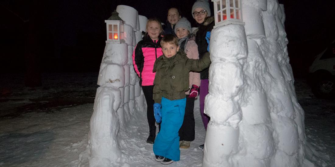 Sneeuwpret in Ottersum
