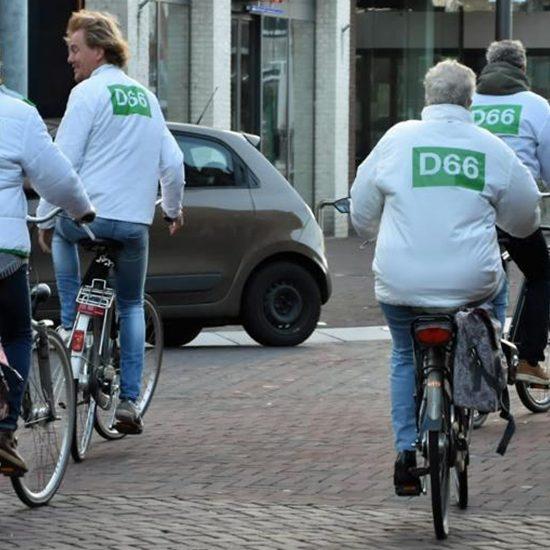 D66 op de fiets