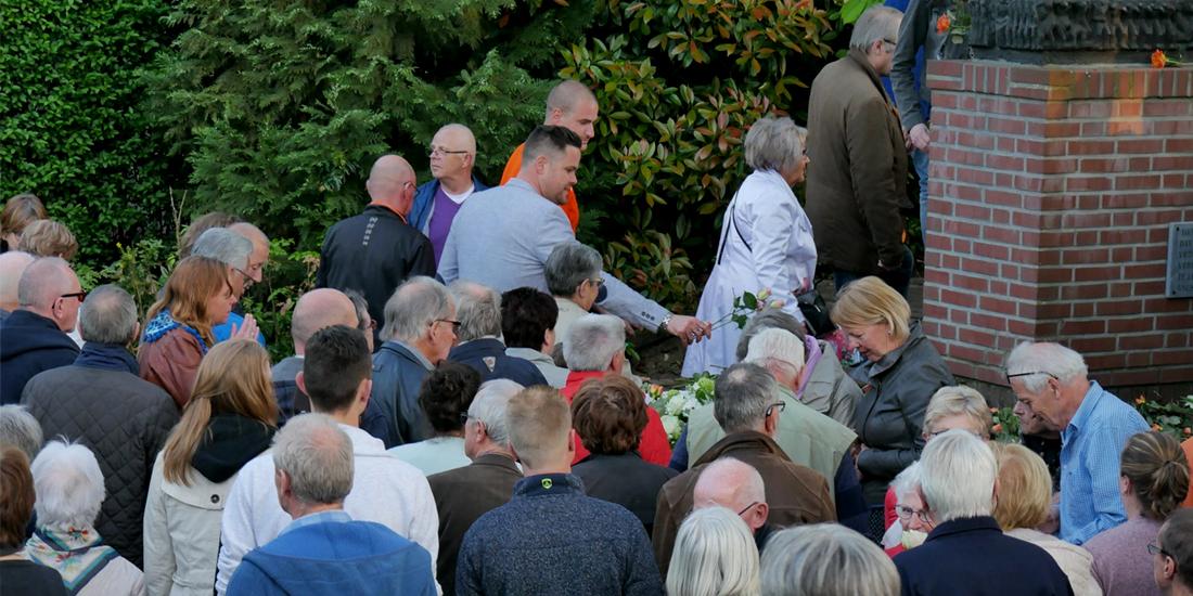 Herdenking bij de Barmhartige Samaritaan in Gennep