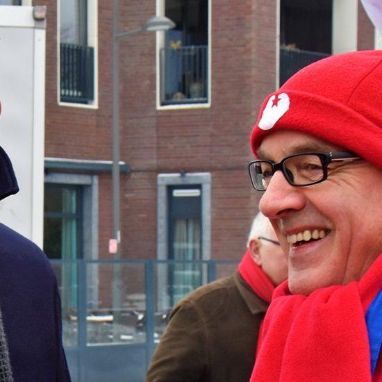 Ruud Geraeds met voormalig SP-leider Emile Roemer in Gennep