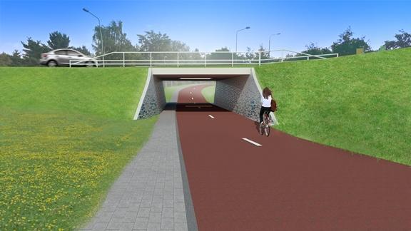 fietstunnel weverrotonde