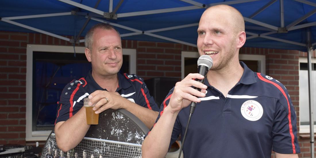 Boy Hubbers en Paul Joosten van VV Heijen